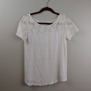 Loft Linen and Lace Tee